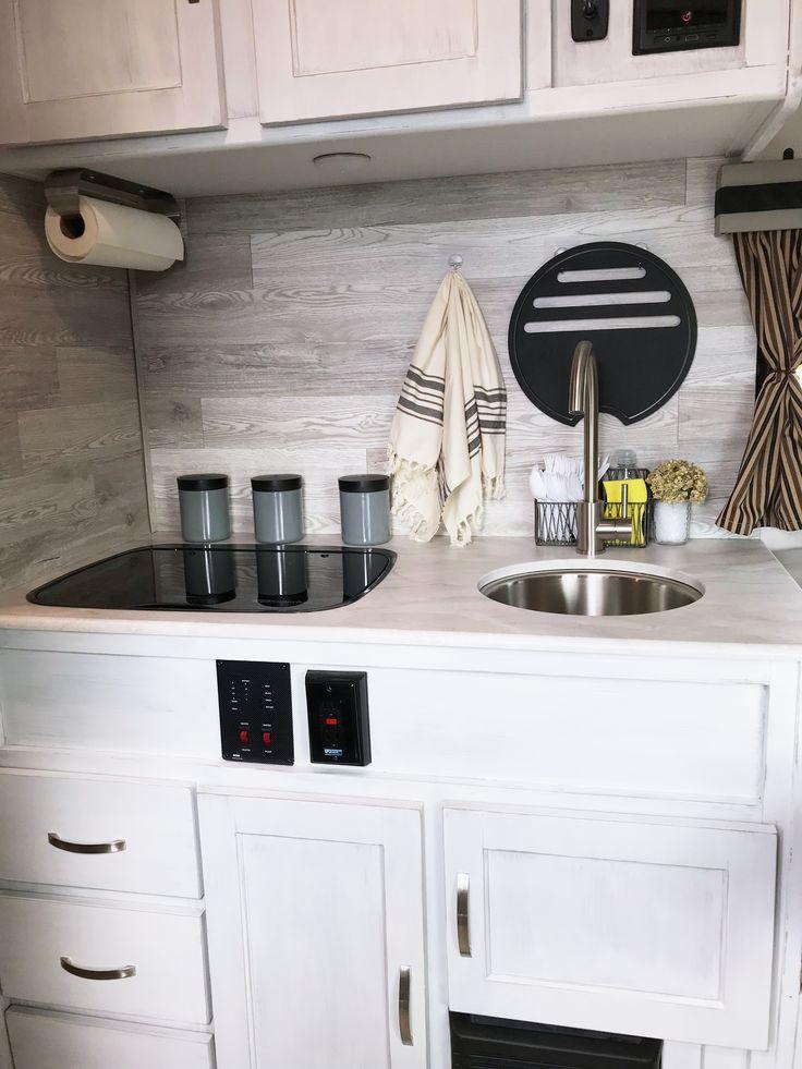 camper makeover in 2020 kitchen remodel rv kitchen remodel kitchen cabinet remodel on r kitchen cabinets id=92709