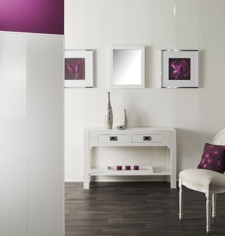 De bekleding Cottage in hoogglans wit vervangt uw witte verf tijdens uw renovatie: de witte kleur wordt eenvoudig met een spons…