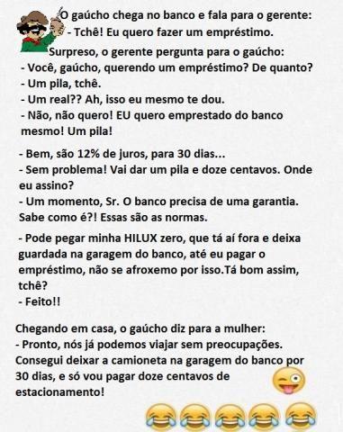 Piadas de Gaúchos - As melhores e mais engraçadas piadas de Gaúcho do piadas.com.br