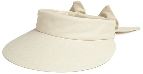 Scala Women's Visor Hat With Big Brim, Natural, One Size Scala