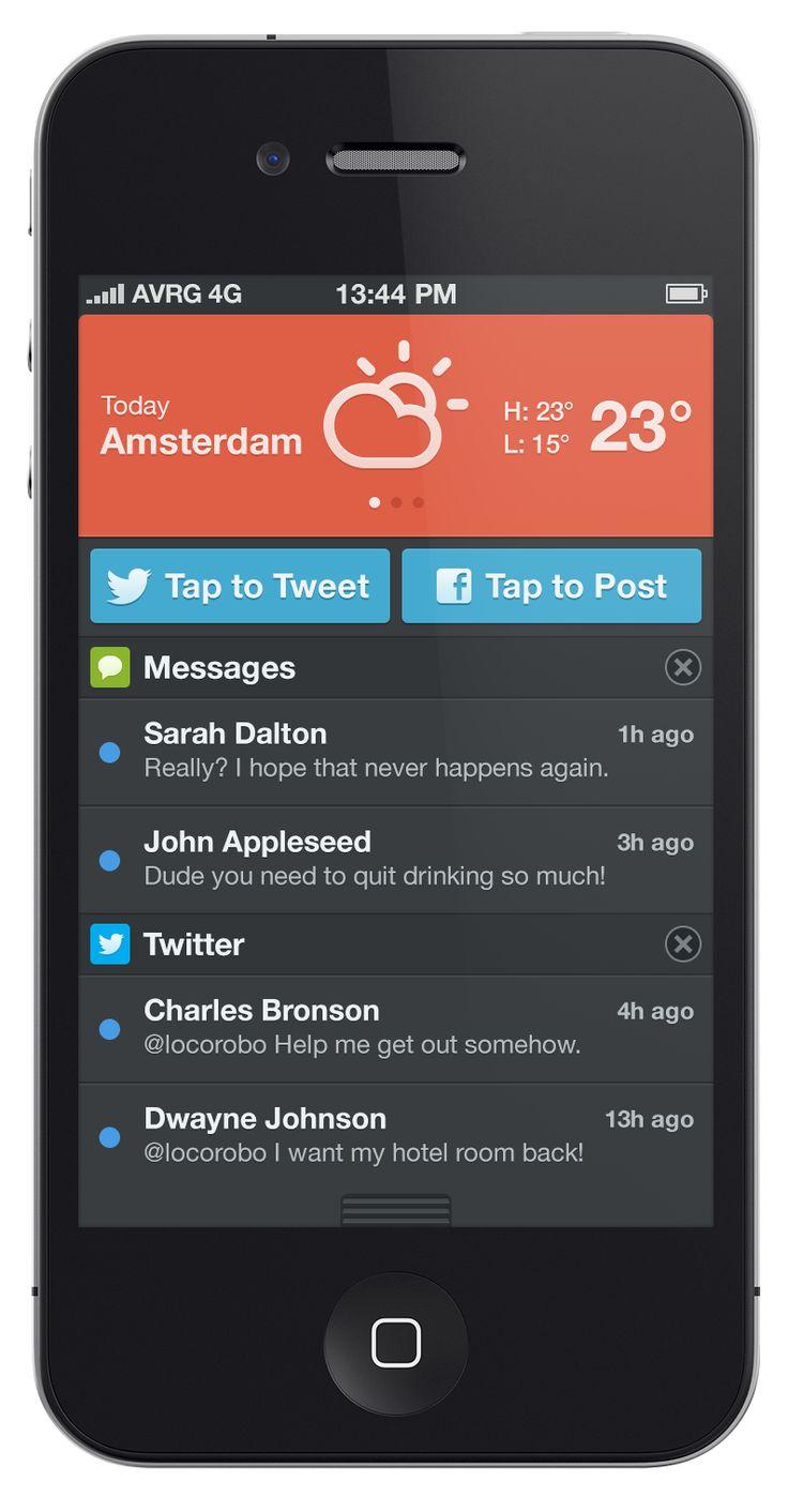 Dribbble social app ui design jpg by ramotion - Ui Design Dribbble Notificationcenter__2x Png By Robert Van Klinken