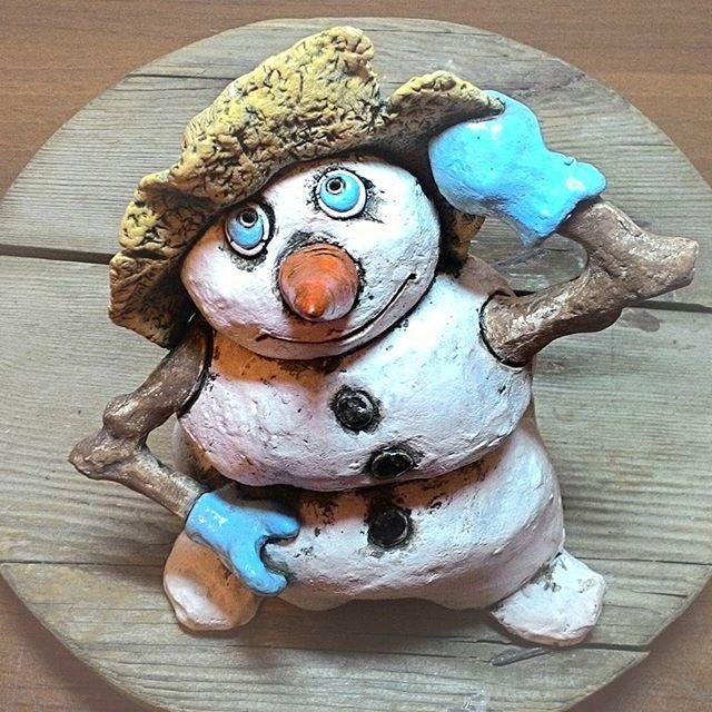 ⛄#керамикадлядома #керамика #снеговик #зима #новыйгод #ручнаяработа #елка