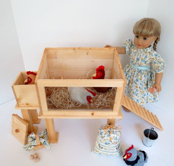 Deluxe DOLL CHICKEN COOP Collection for or by LemonBayDollCo