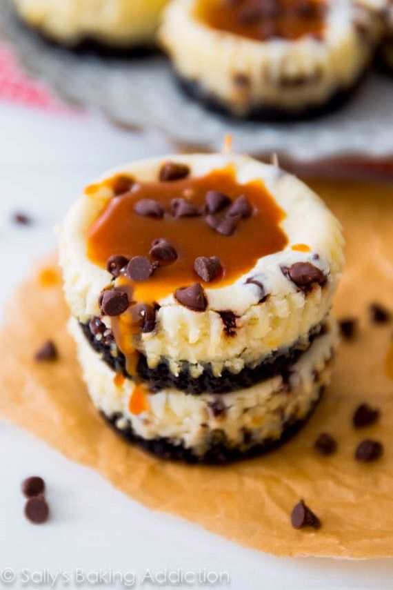 film t shirts Salted Caramel Chocolate Chip Cheesecakes - Simply Divine! | Cheesecakes  & Cheesepies |  | Chocolate Chip Cheesecake, Salted Caramels and Cheesecake