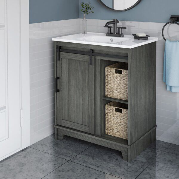 Burnette 30 Single Bathroom Vanity Set Single Bathroom Vanity Bathroom Vanity Small Bathroom Makeover