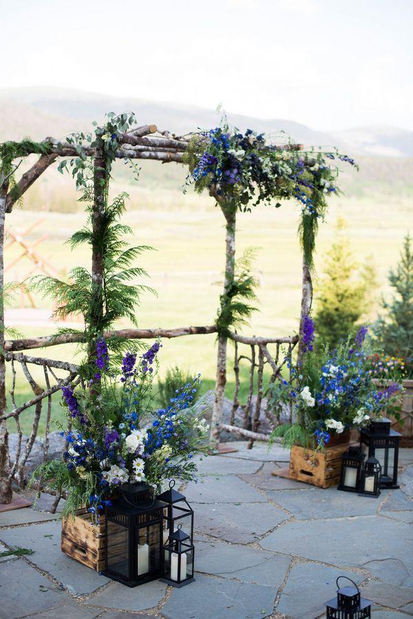 Rustic Wedding Arbors | rustic wedding decor - natural wedding arbor | Our I Do's