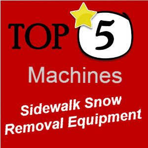 Sidewalk snow removal equipment takes the effort out of clearing snow.