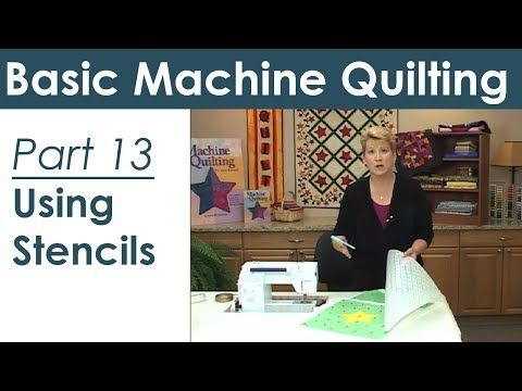 Using a Stencil for Machine Quilting, part 13 of 19 - YouTube