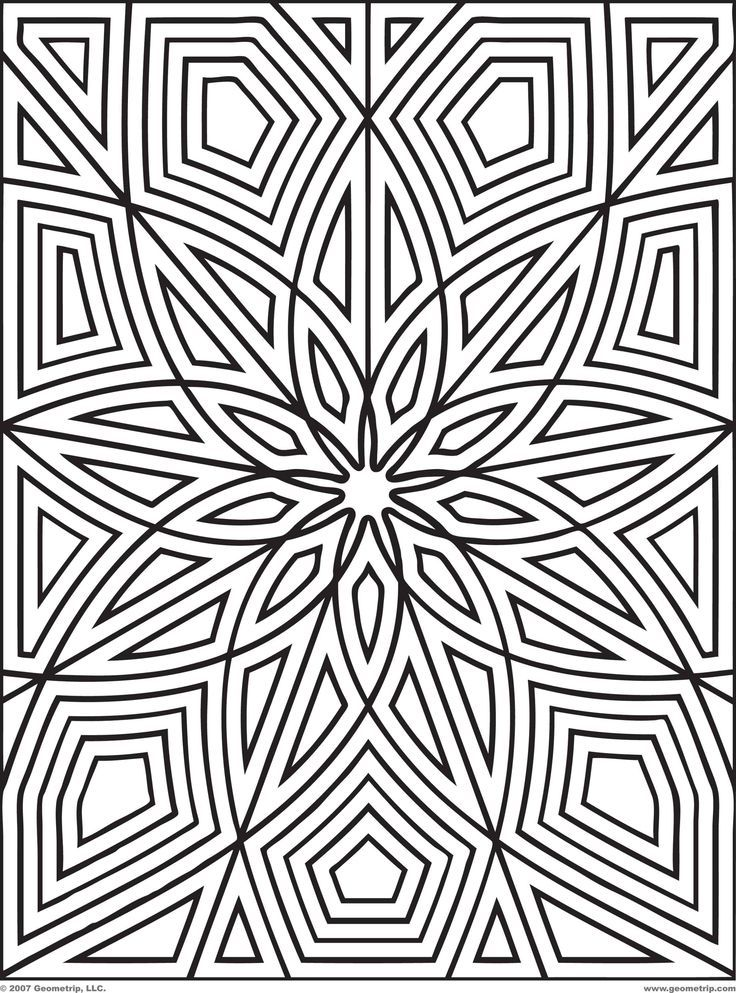 Coloring Pages Patterns Free Geometric Pattern Page