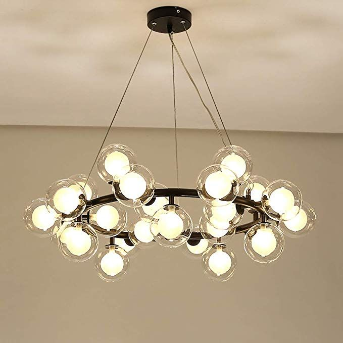 Litfad Modern Chandelier Light Fixture 25 Light Adjustable Led