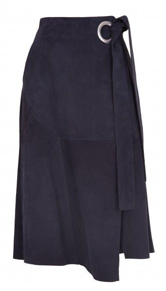 Tibi's Suede Wrap Skirt is a staple skirt that will help you achieve the season's '70s trend. Pair this statement piece with all of your neutral basics and chunky platforms.