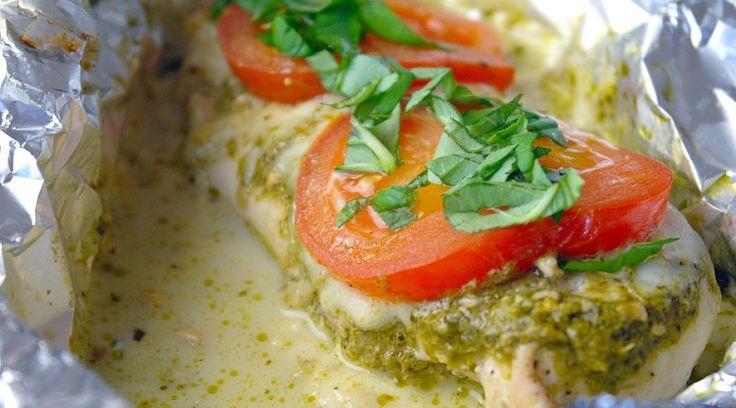 Kippakketjes uit de oven met pesto en mozzarella 2