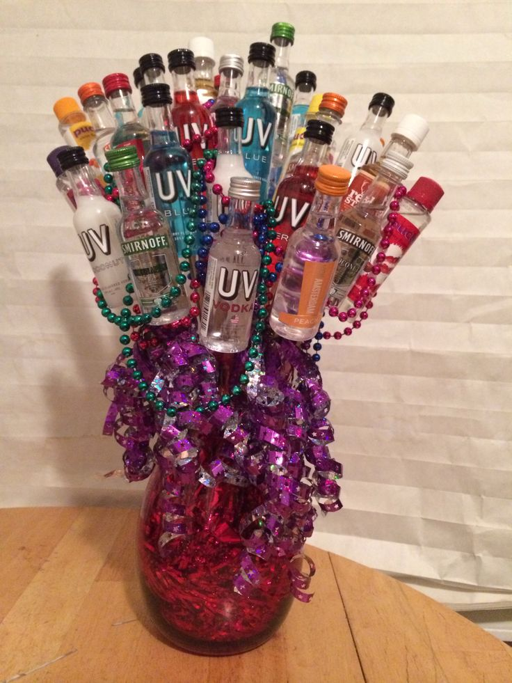 30 year old birthday bouquet 30 bottles red vase silver