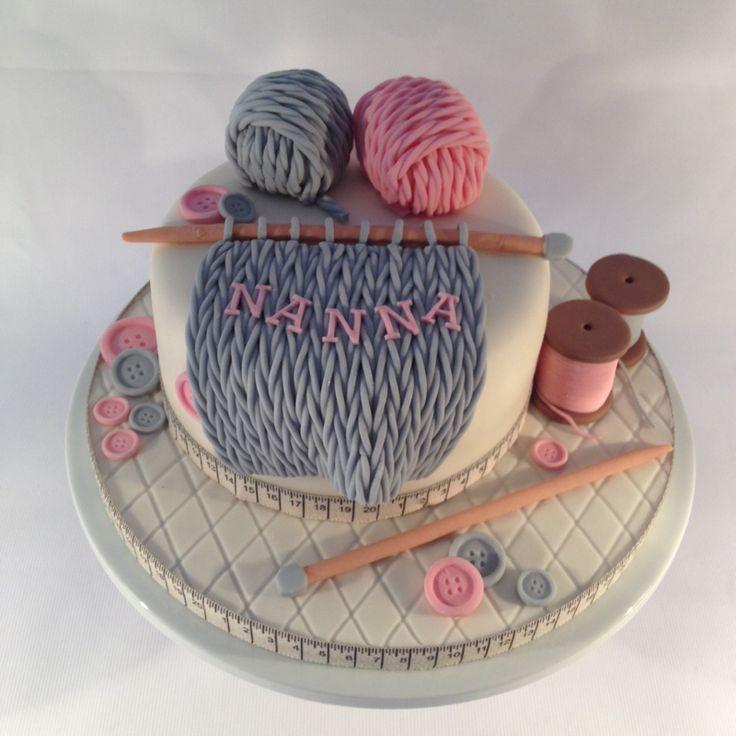 Knitting Birthday Cake Photos