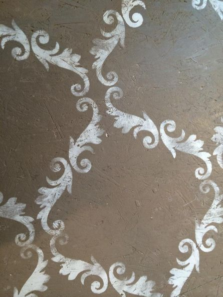 floors stenciling plywood chalk paint annie sloan, chalk paint, diy, flooring, woodworking projects