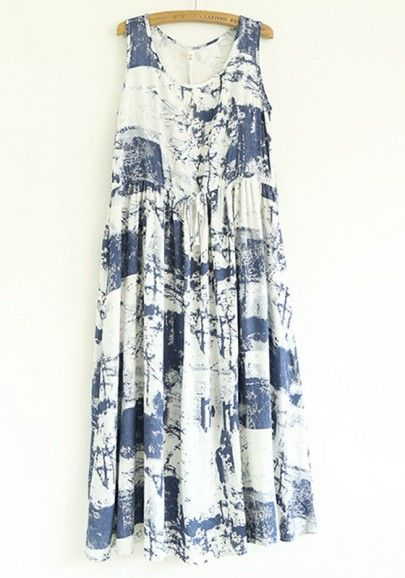 Navy Abstract Dress