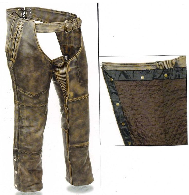 5500 Distressed Brown Chap - Removable Snap out Liner - Unisex by AntelopeCreekLeather on Etsy
