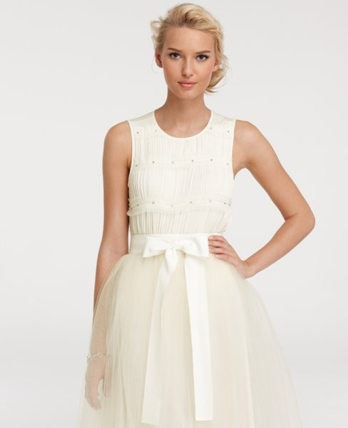 : Tulle Skirts, Tiered Tops, Style, Cute Dresses, Anntaylor, Wedding Events, Ann Taylor, Anne Taylors, Chiffon Tiered