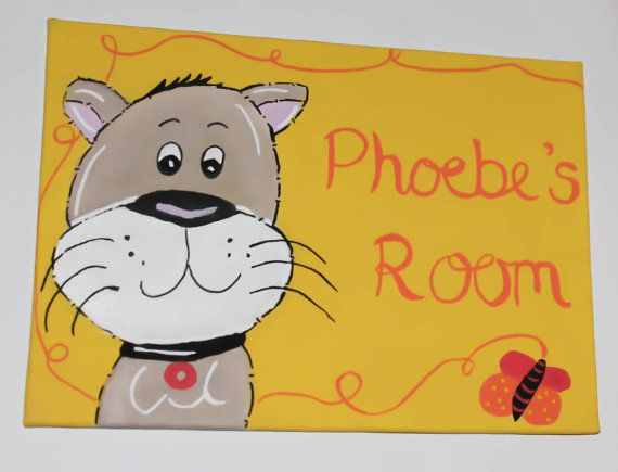 Childrens Boys or Girls Bedroom Door Sign Plaque Animals Cat Any colours  Name Or Wording. 141 best Childrens Door Signs   plaques images on Pinterest