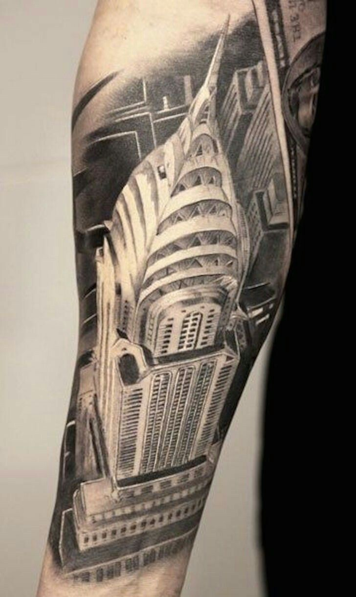 Chrysler building tattoo