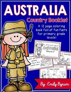 A country study coloring book full of fun facts for primary grades!