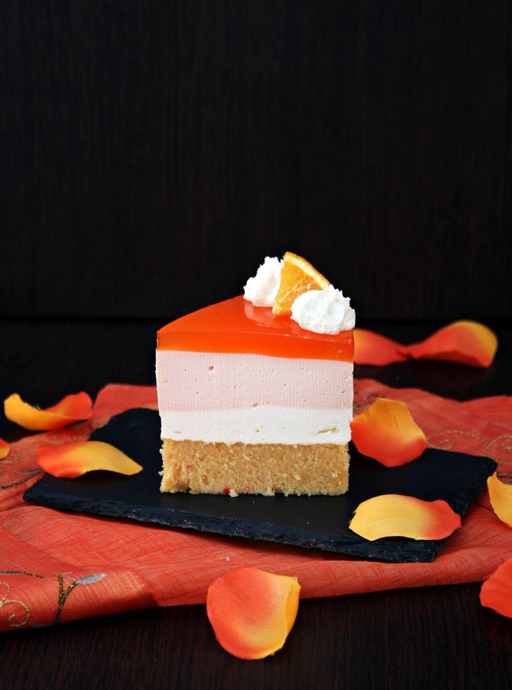 Yogurt Mousse cake all'arancia - Orange Yogurt Mousse Cake
