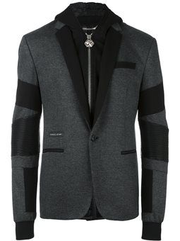 hooded blazer