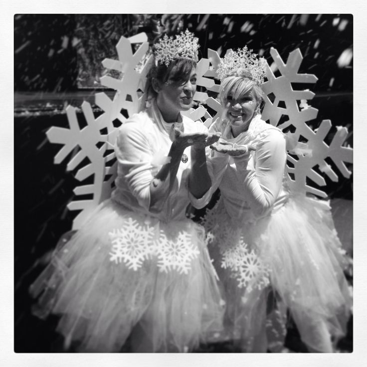 Snowflake costume! Handmade tutu, crown made from $1 ornaments and $1 bday crown, snowflake from foam board.
