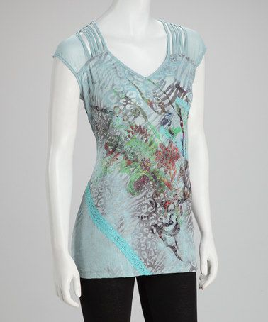 Take a look at this Blue Abstract Top by Christine Phillipë on #zulily today!