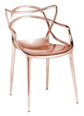 Fauteuil empilable Masters / Métallisé Cuivre - Kartell - Décoration et mobilier design avec Made in Design
