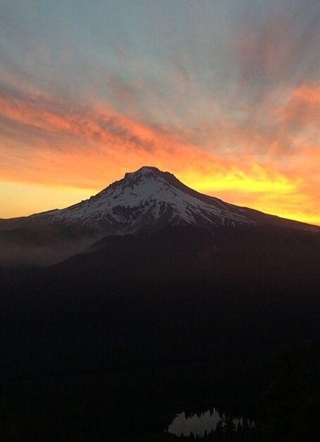 Beautiful Sunrise Over Little Lava Lake Oregon stock photo ...