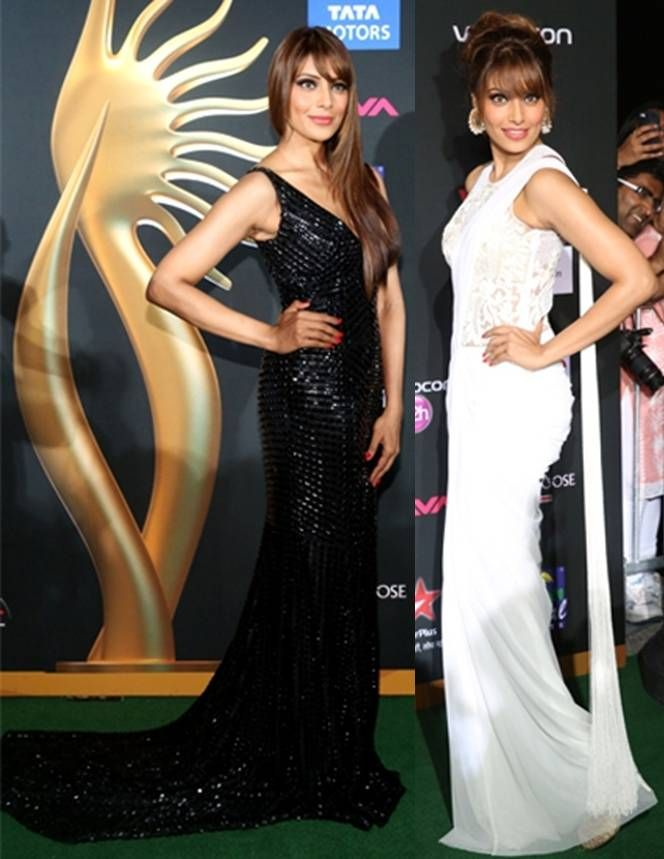 Style File @ IIFA 2014 - Bipasha Basu in Sonaakshi Raaj on the left and in Rocky S on the right. We have to say she was one of THE best dressed stars at the IIFA Awards Source: Getty Digitally print your own unique fabric and style your own wardrobe in India.#digitalprint #india #digitalprintfabric www.chimoraprint.com