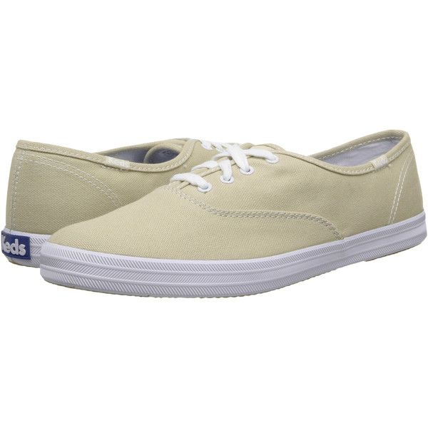Women's KEDS Champion Cotton Canvas Sneakers ($28) ❤ liked on Polyvore featuring shoes, sneakers, fashion sneakers, stone, keds, keds footwear, canvas trainers, keds shoes and plimsoll shoes
