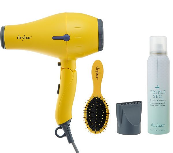Drybar Baby Buttercup Travel Hair Dryer w/ Brush & Triple Sec — QVC.com