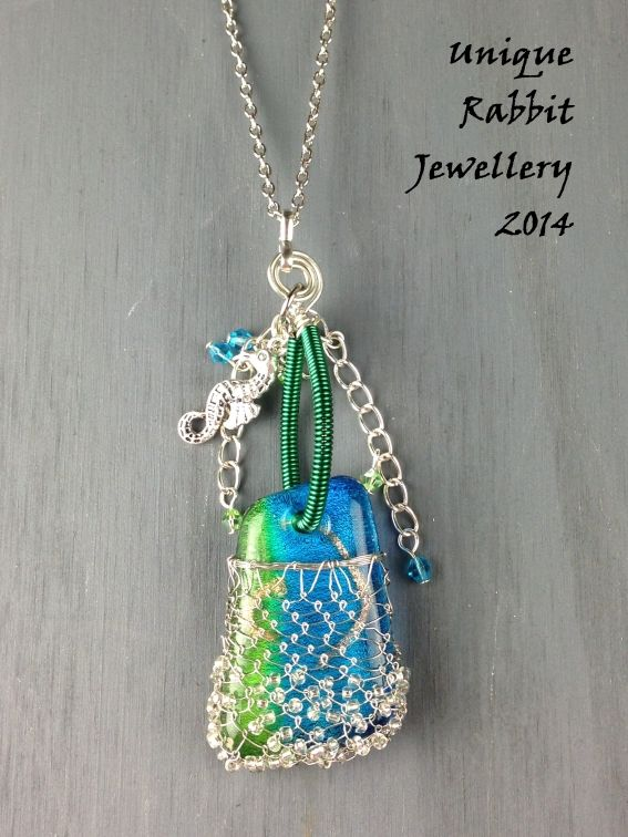 The Whimsical Sea Necklace with wire weaving and Swarovski | Unique_Rabbit | madeit.com.au