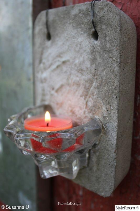 betonityö,kädentaidot,tuikut ja kynttilät