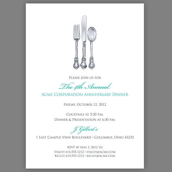 Best Food Invitations Images On   Invitation Design