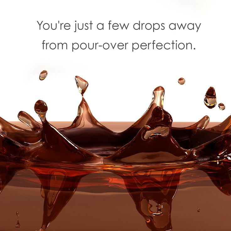 There's nothing like the sound of pour-over coffee dripping through the filter and hitting the cup.