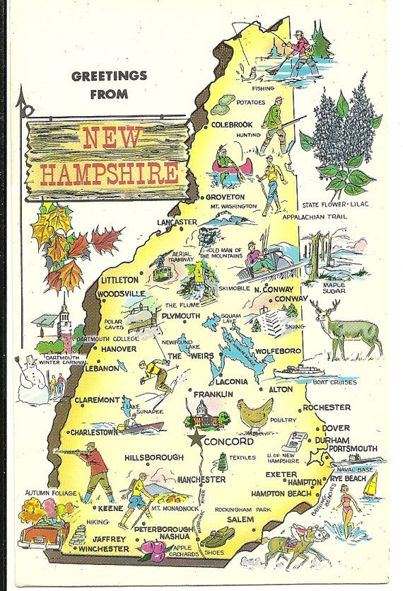 Best NH Naturally Images On Pinterest New Hampshire Live - State of nh map