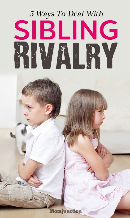 #parenting : 5 Effective Ways To Deal With Sibling Rivalry : One moment your kids get along with each other and the next moment they are at each other's throat. These battles are inevitable, so prepare your kids to defuse those ugly situations.