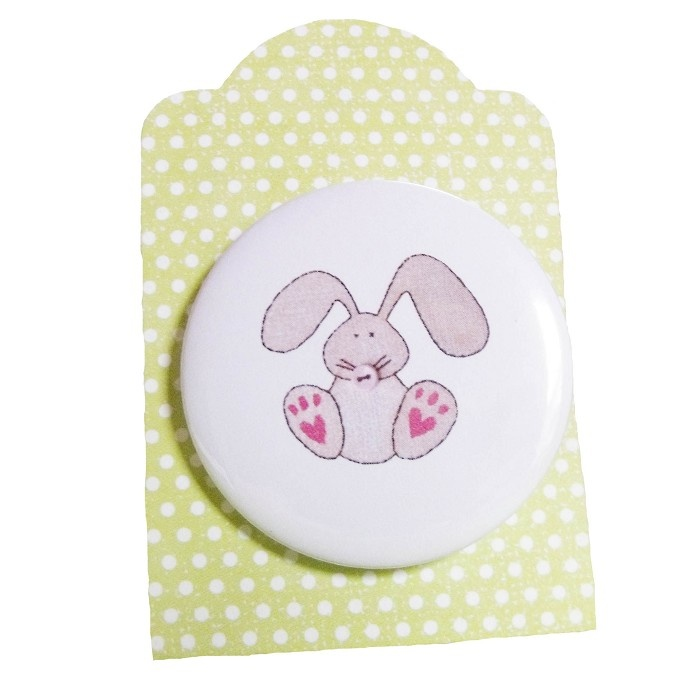 easter bunny badge - by Ooakly on madeit
