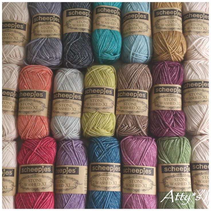yARN tO sEARCH fOR   Atty's http://www.scheepjeswol.com/en/collection/cotton/stone-washed-xl-28637/