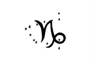 Capricorn Zodiac Sign Tattoo Designjpg