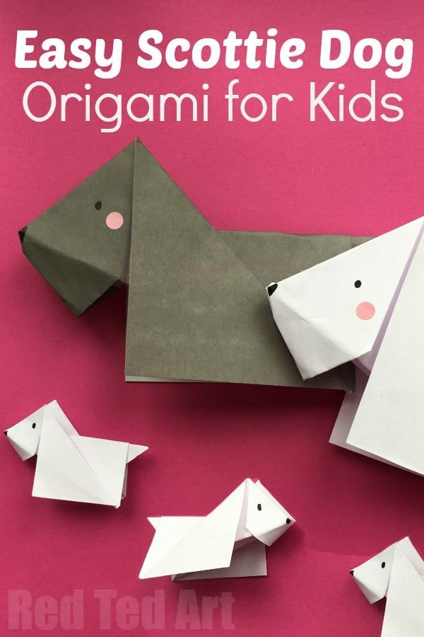 Scottie Dog Origami! A sweet beginner origami activity great for a pet unit!