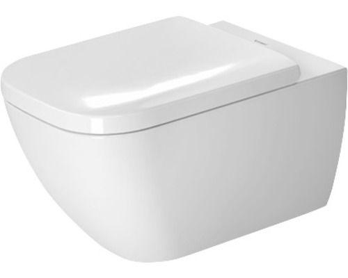 DURAVIT spülrandloses Tiefspül-WC Happy D.2 weiß hängend mit Wondergliss-Beschichtung und Durafix-Befestigung 22220900001