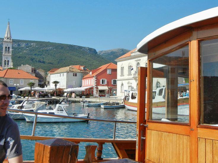 Jelsa, Hvar Is, from wooden boat Andrija