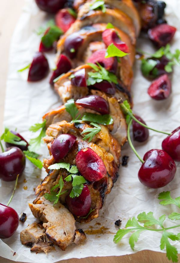 Grilled Chipotle Pork Tenderloin with Fresh Cherry Salsa! #dan330 http://livedan330.com/2015/07/11/grilled-chipotle-pork-tenderloin-fresh-cherry-salsa/