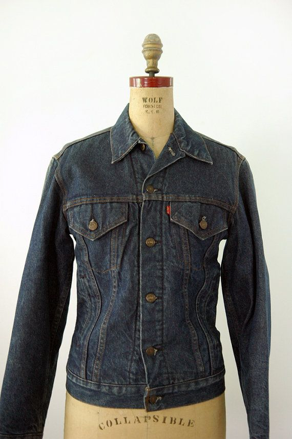 1970s Levis flannel lined jean jacket by 86Vintage86 on Etsy