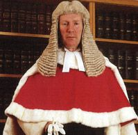 The history of British legal dress.  Today's High Court Judges still wear the same ceremonial dress or black court breeches, black stockings and black patent leather court shoes with cut steel buckles, and scarlet cloth robe as stipulated in the original Judges' Rules of 1635.