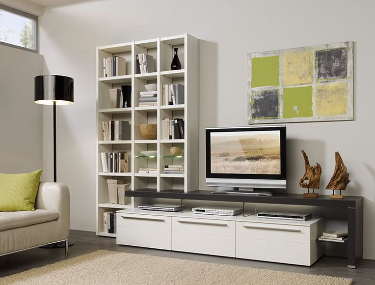 Contemporary Bellano Wall Storage System Choice of Colour/Opt LED